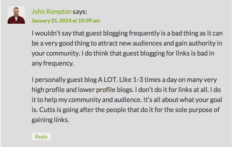 John Rampton Comment SEL 1-21-2014